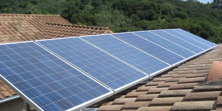 Solar Panels Installed On The Roof For Homes